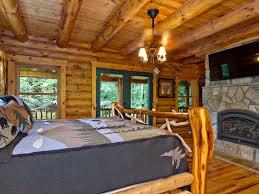 Log Bedroom Suites Waterfall View Luxury Log Home Maggie Vrbo