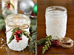 Christmas Decorated Mason Jars Mason Jar Christmas Centerpiece 100 Modern Easy DIY Ideas 13