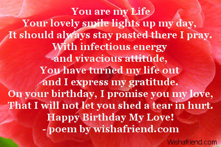 happy birthday poem for girlfriend