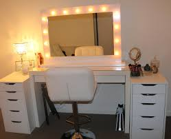 Makeup Vanity With Lights And Chair Furniture Creative Ideas Of Makeup Vanity Table Designs
