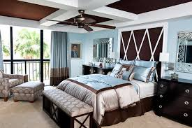 blue bedroom color ideas. Brown And Blue Interior Color Schemes Are Earthy Elegant When Bedroom Ideas