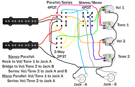 stereo wiring re ed com series parallel switch stereo mono switch two volume and tone circuits two jacks