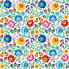 Floral Pattern Awesome Seamless Polish Folk Art Floral Pattern Wall Mural Pixers We