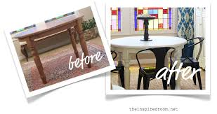 painting wood furniture whiteFurniture Makeover Dining Table Before  After  The Inspired Room