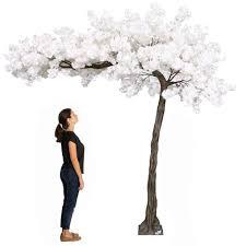 Fake Cherry Blossom Tree With Lights 11 Feet Tall Grand Arch Fake Cherry Blossom Tree White