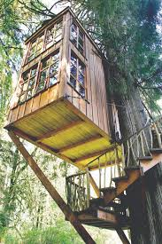 A Very, very nice children's (adult kids too) tree house. Suspended and