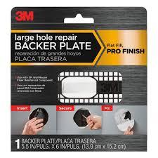 plastic wall repair backer plate