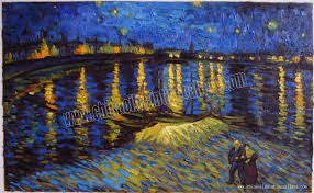 starry night over the rhone oil painting reion