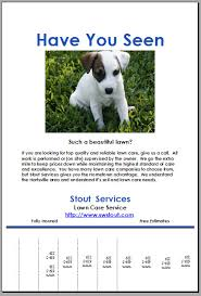 Lost Pet Flyer Maker Lost Pet Flyer Maker Lost Dog Flyer Template Lawn Care Flyer 86