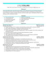 Mep Engineer Resume Sample Maintenance Technician Resume Sample Mep