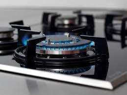 gas range burner.  Burner Blue Flame On Gas Stove Burner On Gas Range Burner