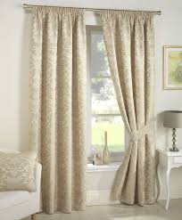 crompton pencil pleat lined ready made curtains jacquard damask gold modern uk