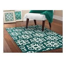 new area rug teal white medallion floor carpet modern interior decor 8 x 10