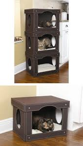 luxury cat beds furniture. catbedhousehut cut holes in storage box i just made something similar to this by buying some frontopened boxes from walmart luxury cat beds furniture