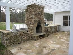 stone veneer kitchen backsplash. Kitchen. Outdoor Kitchen Decorating Design Ideas Using White Wood Pergola Roof Including Natural Grey Stone Veneer Backsplash I