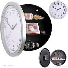 safe wall clock secret wall clock safe jewellery stuff storage box container secret wall clock storage box jewellery with 19 42 piece on