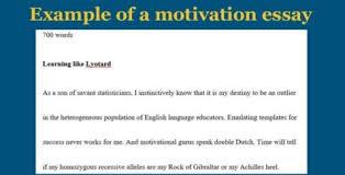 Motivation Letter Template For Scholarship Motivation Letter