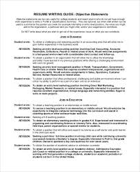 Objective Statements For Resumes Objective Statement Resume Fungramco 93