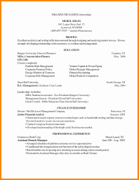 Mba Resume Template Harvard Examples Student Sample Awesome Resumes
