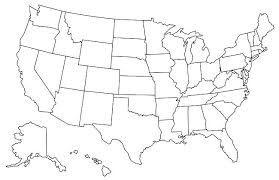 Map Of The United States Coloring Page Blank United States Map