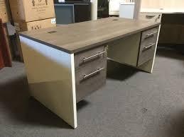 new office desk. new office desk gray