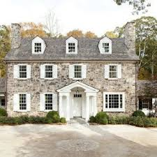exterior colonial house design. Top Stone House With Boxwoods Exterior Design Styles. Colonial
