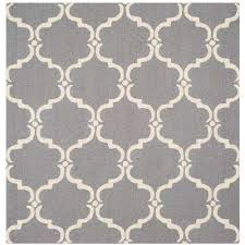 cambridge dark gray ivory 6 ft x 6 ft square area rug