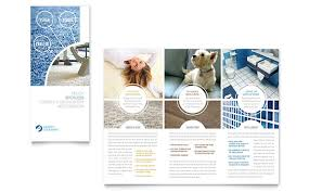 carpet cleaning flyer carpet cleaners tri fold brochure template design