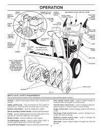 poulan pro pp1053es snow thrower owner's manual MTD Snow Blower Diagram disengaged engaged snow traction discharge drive control 8; 9 operation spark engine