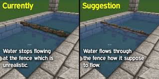 minecraft fence designs. Minecraft Fence Designs Water Should Flow Through Fences! Suggestions Minecraft: Java 33477. «« L