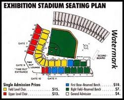 Details About Mlb 1980s Toronto Blue Jays Seating Price Chart Color 8 X 10 Photo Picture