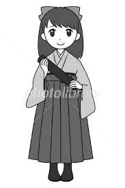 袴の女の子 イラスト素材 2502196 無料 フォトライブラリー