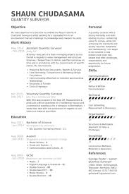 Assistant Quantity Surveyor Resume samples