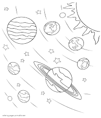 Coloring Pages Space Coloring Pages Worksheets In Pinterest Solar