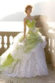 green and white wedding dresses luxury brides