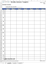 Printable Hourly Weekly Schedule Blank Weekly Calendar Hourly Template With Hours Combined Printable