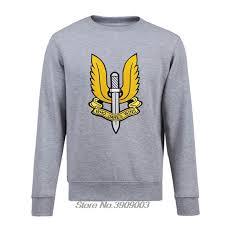Us 11 98 25 Off Men Fleece Sweatshirt Sas Who Dares Wins Army Special Air Service Military Hoodie Cool Coat Tops Harajuku Streetwear In Hoodies