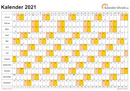 Bekijk hier de online kalender 2021. Kalender 2021 Zum Ausdrucken Kostenlos