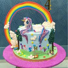 unicorn cake topper unicorn in clouds rainbow unicorn cake пони