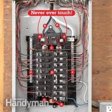 breaker box wiring diagram breaker image wiring breaker box safety how to connect a new circuit the family handyman on breaker box wiring