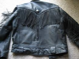 gallery for mens leather fringe jacket