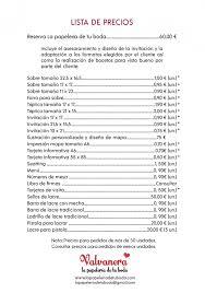 Formato De Lista De Precios Lista De Precios