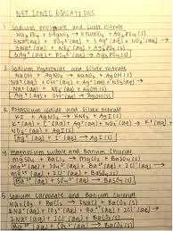 sodium carbonate and hydrochloric acid is recorded as no reaction but it does indeed react to form a gas so it is included in the net ionic equations