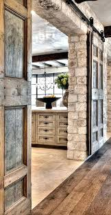 interior stone wall pocket doors make feel like home designs interior stone wall mixed metal and wood cladding design