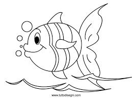 Disegni Di Pesci Da Colorare E Stampare Gratis Pesce Squamoso Da