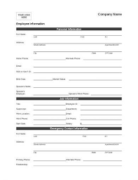 10 Employee Information Form Examples Pdf Word Examples