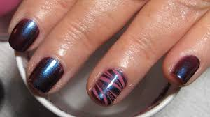 Mom's (Short Nails) Water Marble Accent Nail Art Tutorial (Water ...