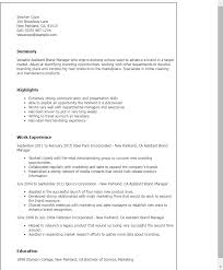 Resume Templates: Assistant Brand Manager