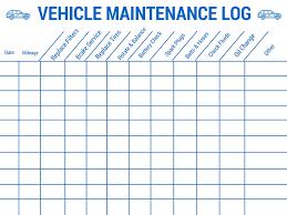 Car Maintenance Chart Truck Maintenance Schedule Jasonkellyphoto Co
