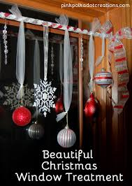 pink polka dot creations beautiful christmas window treatment